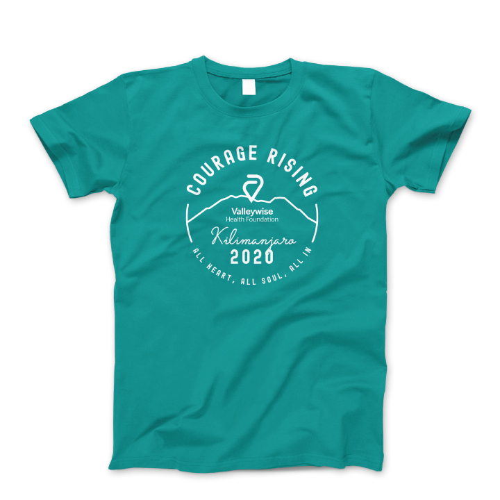 Courage Rising Turquoise T-Shirt
